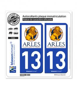 13 Arles - Ville | Autocollant plaque immatriculation