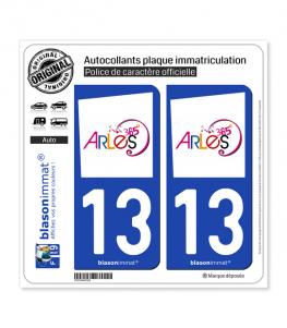 13 Arles - Tourisme | Autocollant plaque immatriculation