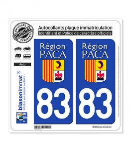 83 PACA - LogoType | Autocollant plaque immatriculation
