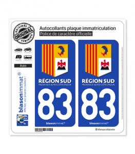 83 PACA - Région Sud | Autocollant plaque immatriculation