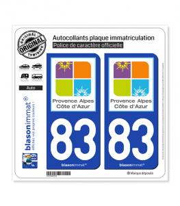 83 PACA - Tourisme | Autocollant plaque immatriculation