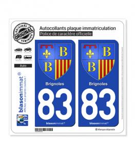 83 Brignoles - Armoiries | Autocollant plaque immatriculation