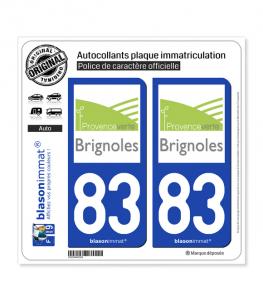 83 Brignoles - Agglo | Autocollant plaque immatriculation