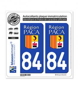 84 PACA - LogoType | Autocollant plaque immatriculation
