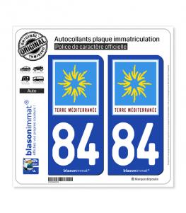84 PACA - Terre Méditerranée | Autocollant plaque immatriculation