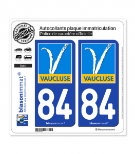 84 Vaucluse - Département | Autocollant plaque immatriculation
