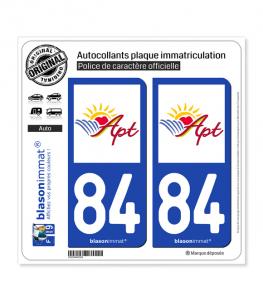 84 Apt - Ville | Autocollant plaque immatriculation