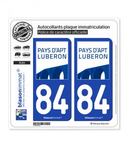 84 Apt - Agglo | Autocollant plaque immatriculation