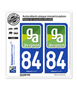 84 Avignon - Agglo   Autocollant plaque immatriculation