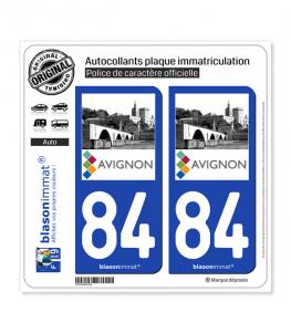 84 Avignon -Tourisme | Autocollant plaque immatriculation