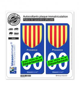 Provence - Armoiries | Autocollant plaque immatriculation