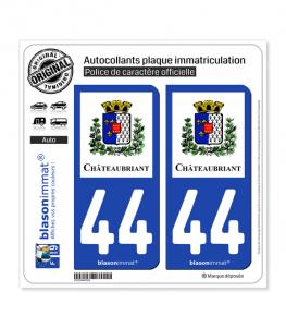 44 Châteaubriant - Ville | Autocollant plaque immatriculation