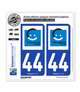 44 Châteaubriant - Agglo | Autocollant plaque immatriculation