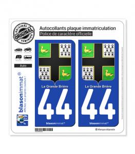 44 Grande Brière - Armoiries | Autocollant plaque immatriculation