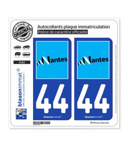 44 Nantes - Ville | Autocollant plaque immatriculation