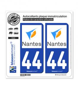 44 Nantes - Agglo | Autocollant plaque immatriculation