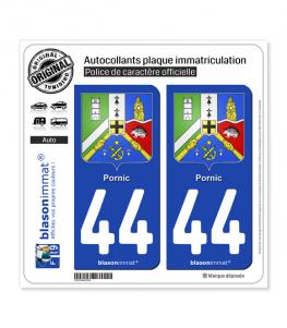 44 Pornic - Armoiries | Autocollant plaque immatriculation