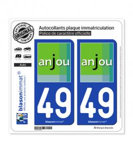 49 Maine-et-Loire - Tourisme | Autocollant plaque immatriculation