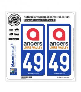 49 Angers - Tourisme | Autocollant plaque immatriculation