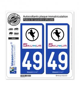 49 Saumur - Ville | Autocollant plaque immatriculation