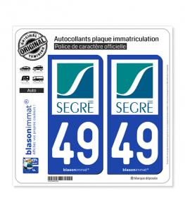 49 Segré - Ville | Autocollant plaque immatriculation