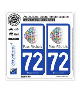 72 La Flèche - Pays | Autocollant plaque immatriculation