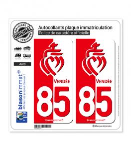 85 Vendée - Collector | Autocollant plaque immatriculation