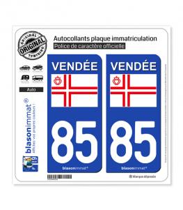 85 Vendée - Croix Saint Olaf | Autocollant plaque immatriculation