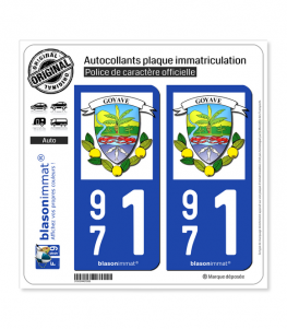 971 Goyave - Armoiries | Autocollant plaque immatriculation