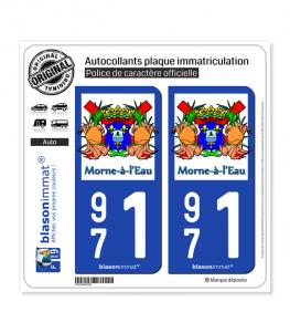 971 Morne-à-l'Eau - Commune | Autocollant plaque immatriculation