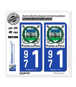971 Pointe-à-Pitre - Ville | Autocollant plaque immatriculation