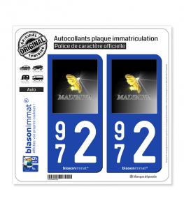 972 Madinina - Esprit Caraïbes | Autocollant plaque immatriculation