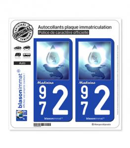 972 Madinina - Version Vista | Autocollant plaque immatriculation