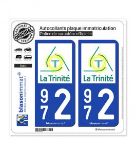 972 La Trinité - Ville | Autocollant plaque immatriculation