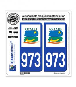 973-H Guyane - LogoType | Autocollant plaque immatriculation