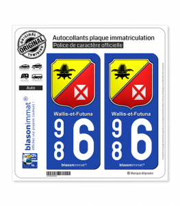 986 Wallis-et-Futuna - Collector | Autocollant plaque immatriculation