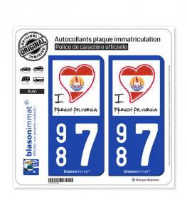 987 Polynésie Française - I'm | Autocollant plaque immatriculation