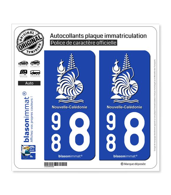 988 Nouvelle-Calédonie - Armoiries | Autocollant plaque immatriculation