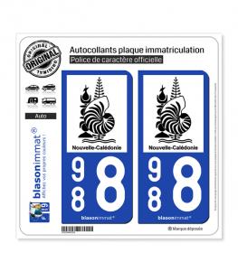 988 Nouvelle-Calédonie - Armoiries II | Autocollant plaque immatriculation