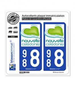 988 Nouvelle-Calédonie - Tourisme | Autocollant plaque immatriculation