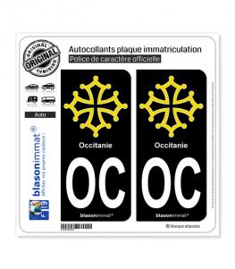 OC Occitanie - Croix | Autocollant plaque immatriculation