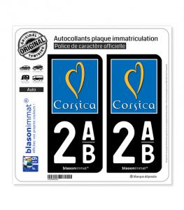 2AB Corsica - Tourisme | Autocollant plaque immatriculation