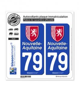 79 Nouvelle-Aquitaine - Région II | Autocollant plaque immatriculation
