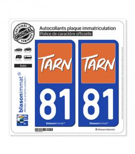 81 Tarn - Département | Autocollant plaque immatriculation