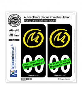 Blake et Mortimer - La Marque Jaune | Autocollant plaque immatriculation (Fond Noir)