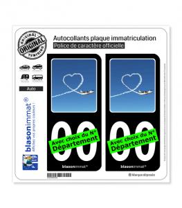 Airlinair - Fidélisation   Autocollant plaque immatriculation (Fond Noir)