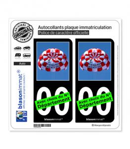 I Sanary Parachute | Autocollant plaque immatriculation (Fond Noir)