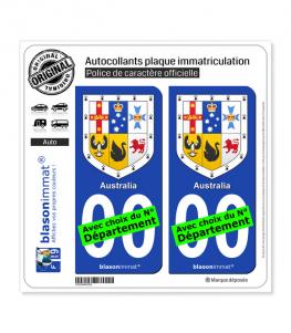 Australie - Armoiries | Autocollant plaque immatriculation