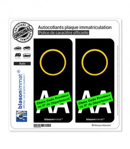 Italie - LogoType   Autocollant plaque immatriculation (Fond Noir)