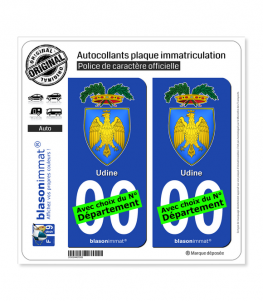 Udine Province - Armoiries (Italie) | Autocollant plaque immatriculation